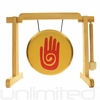 """7"""" Reiki Gong on the Tiny Atlas Stand - Natural - FREE SHIPPING"""
