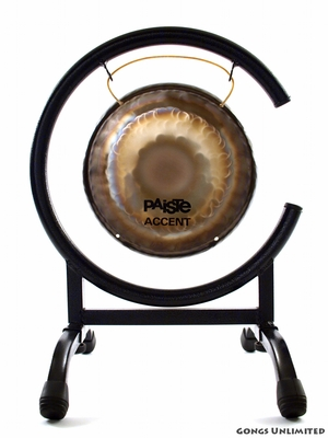"7"" Paiste Accent Gong (AG30160) on High C Gong Stand - FREE SHIPPING"