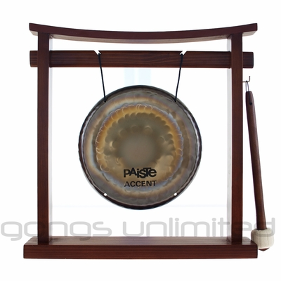 "7"" Paiste Accent Gong on the Pretty Chill Gong Stand - FREE SHIPPING"