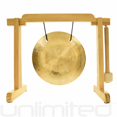 """7"""" Wind Gong on the Tiny Atlas Stand - Natural - FREE SHIPPING"""