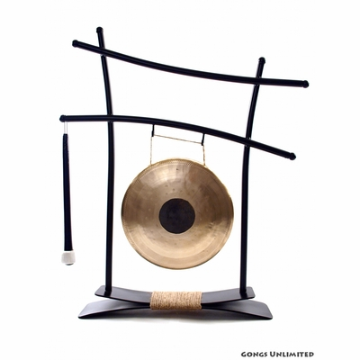 """8"""" Chocolate Drop Gong on Parallel Universe Gong Stand - FREE SHIPPING"""