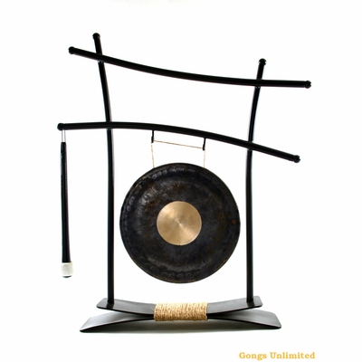 """8"""" Dark Star Gong on Parallel Universe Gong Stand - FREE SHIPPING"""