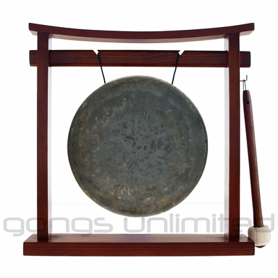 "8"" Mother Tesla Gong on the Pretty Chill Gong Stand  - FREE SHIPPING"