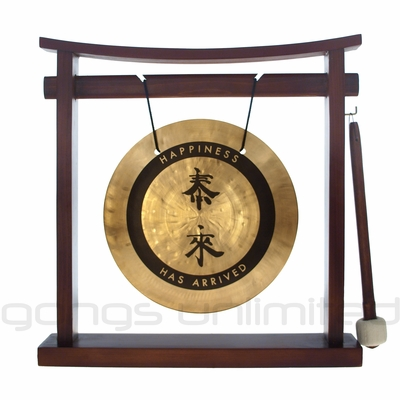 "8"" Tai Loi Wind Gong on Pretty Chill Gong Stand - FREE SHIPPING"
