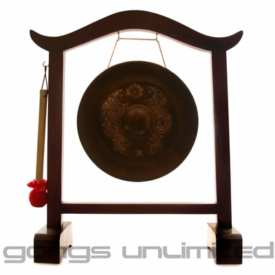 "9"" Vietnamese Dragon Gong on Gong Stand - FREE SHIPPING"
