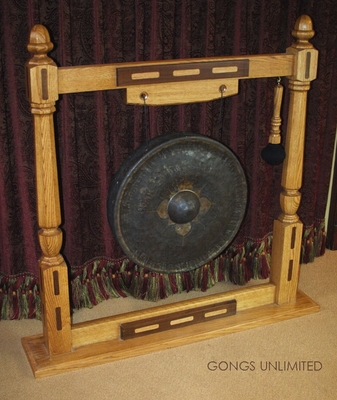 "22"" Antique Thai Gong on American Garuda Gong Stand 