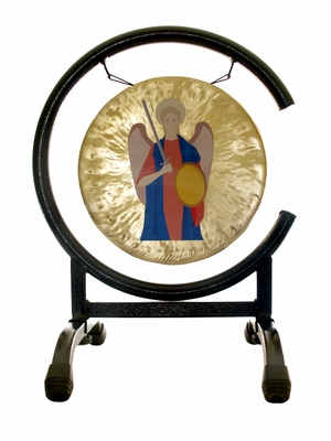 ArchAngel Michael Prayer Gong on the High C Gong Stand