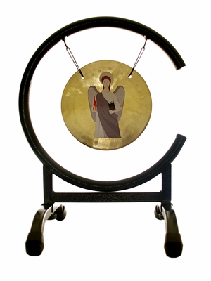 ArchAngel Uriel Prayer Gong on the High C Gong Stand