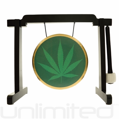 """7"""" 420 Gong on the Tiny Atlas Stand - Black - FREE SHIPPING"""