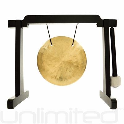 """6"""" Wind Gong on the Tiny Atlas Stand - Black - FREE SHIPPING"""