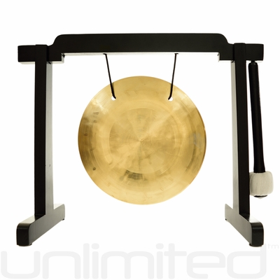 """7"""" Wind Gong on the Tiny Atlas Stand - Black - FREE SHIPPING"""