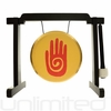 """7"""" Reiki Gong on the Tiny Atlas Stand - Black - FREE SHIPPING"""