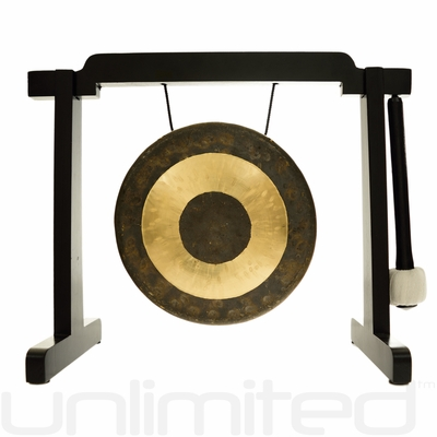"7"" Chau Gong on the Tiny Atlas Stand - Black - FREE SHIPPING"