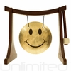 "7"" Smiley Face Gong on the Lifting Buddha Stand - FREE SHIPPING"