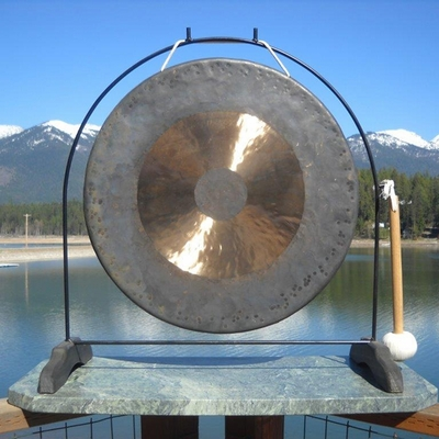 """22"""" Bright Chau Gong on the Super Love Gong Stand - FREE SHIPPING"""