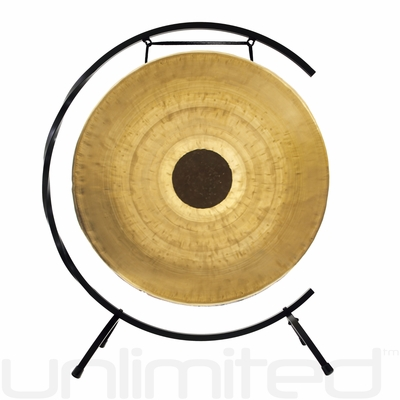 """22"""" Chocolate Drop Gong on Paiste Floor Gong Stand"""