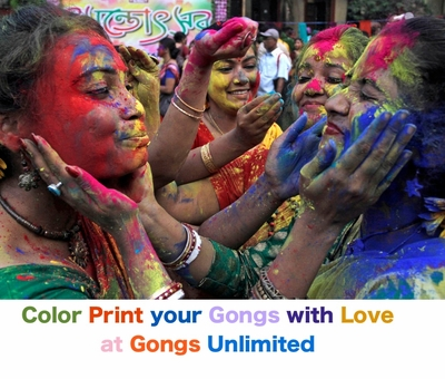 """Color Direct Print Gongs up to 12"""""""