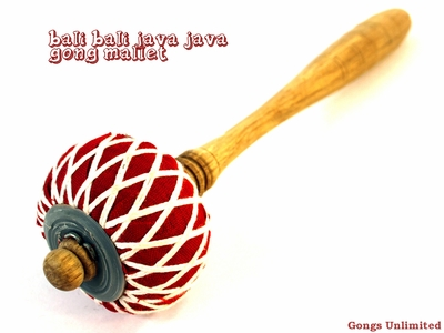 "Extra Medium Bali Bali Java Java Gong Mallet for 16"" to 24"" Gongs - From Gongs Unlimited"