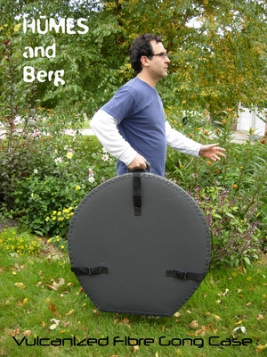 """Humes & Berg Vulcanized Fibre Gong Case for 36"""" Gongs WITH PRO LINING"""