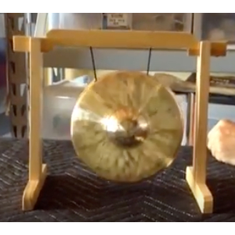 """Imperfect 7"""" Bao on Tiny Atlas Gong Stand w/ mallet  FREE SHIP"""