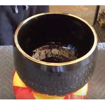 """SOLD Imperfect 10"""" Black Ching Bowl - A - FREE SHIPPING"""