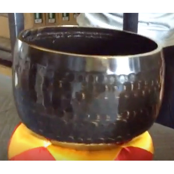 "Imperfect 10"" Black Ching Bowl - B - FREE SHIPPING"