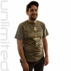 Large Paiste Gongs T-Shirt with Tai Loi Symbols - Olive Green