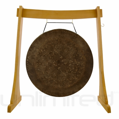 "32"" Mother Tesla Gong on the Unlimited Revelation Gong Stand - FREE SHIPPING"