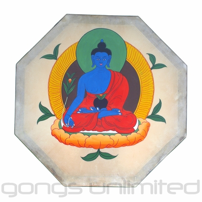 Medicine Buddha - Ocean Drum from Nepal - FREE SHIPPING