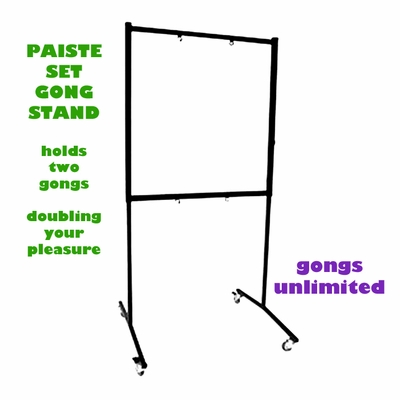 "CLICK HERE for Paiste Set Square Gong Stand with Rollers Sizes for 20"" to 40 Gongs"