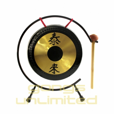 "The 12"" Shiny Table Tai Loi Gong on Gong Stand"
