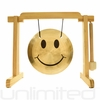 "7"" Smiley Face Gong on the Tiny Atlas Stand - Natural - FREE SHIPPING"