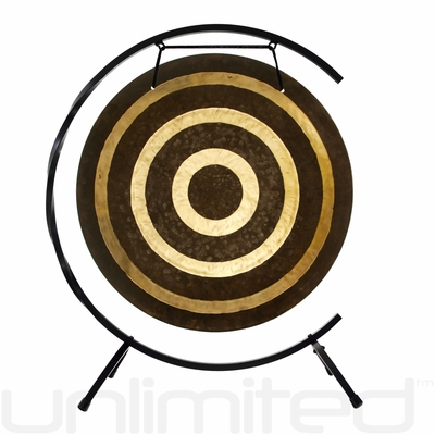 """22"""" Solar Flare Gong on the Paiste C Stand"""