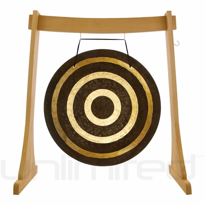 """32"""" Solar Flare Gong on the Unlimited Revelation Gong Stand - FREE SHIPPING"""