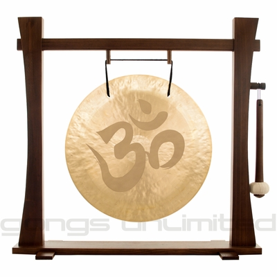 """22"""" Om Wind Gong on Spirit Guide Gong Stand - FREE SHIPPING"""