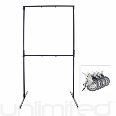 The Unlimited TWO Gong Stand - with Wheels
