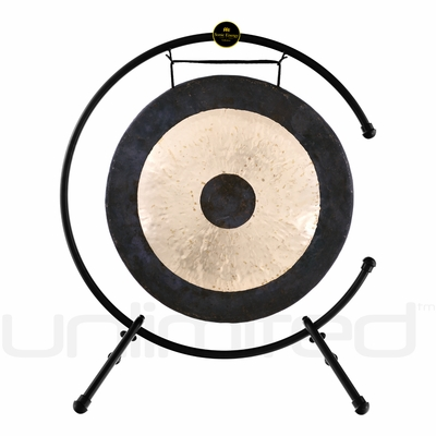 "22"" Chau Gong on the Meinl Table Top Gong Stand (TMTGS-L)"
