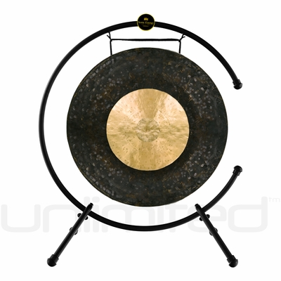 "22"" Dark Star Gong on the Meinl Table Top Gong Stand (TMTGS-L)"