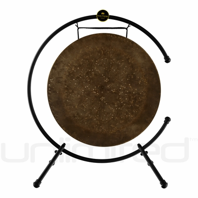 """22"""" Mother Tesla Gong on the Meinl Table Top Gong Stand (TMTGS-L)"""