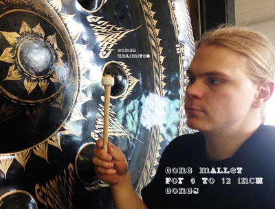 """Three Gongs Unlimited Gong Mallets for 6"""" to 12"""" Gongs"""