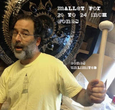 """Three Gongs Unlimited Gong Mallets for 20"""" to 24"""" Gongs"""