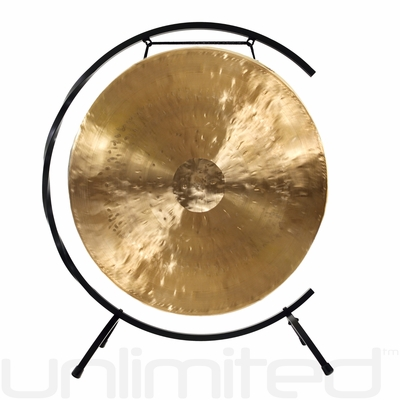 """22"""" White Gong on Paiste Floor Gong Stand"""