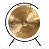 "22"" White Gong on Paiste Floor Gong Stand"