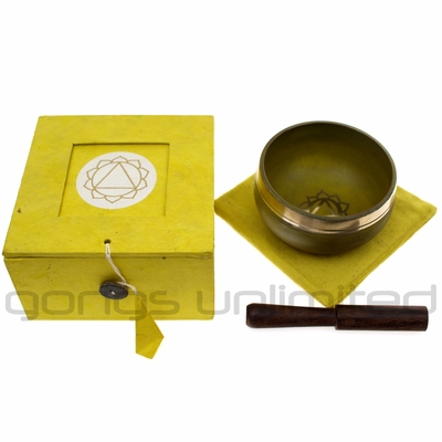 Yellow Chakra Gift Singing Bowl