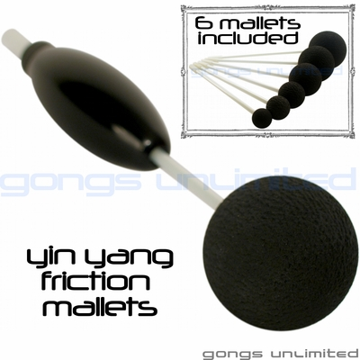 SOLD OUT! Set of 6 Yin Yang Friction Mallets & Vario OTG 5 Handle by TTE Konklang