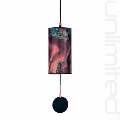 Zaphir Blue Moon Wind Chime (color 20) - Burgundy - FREE SHIPPING