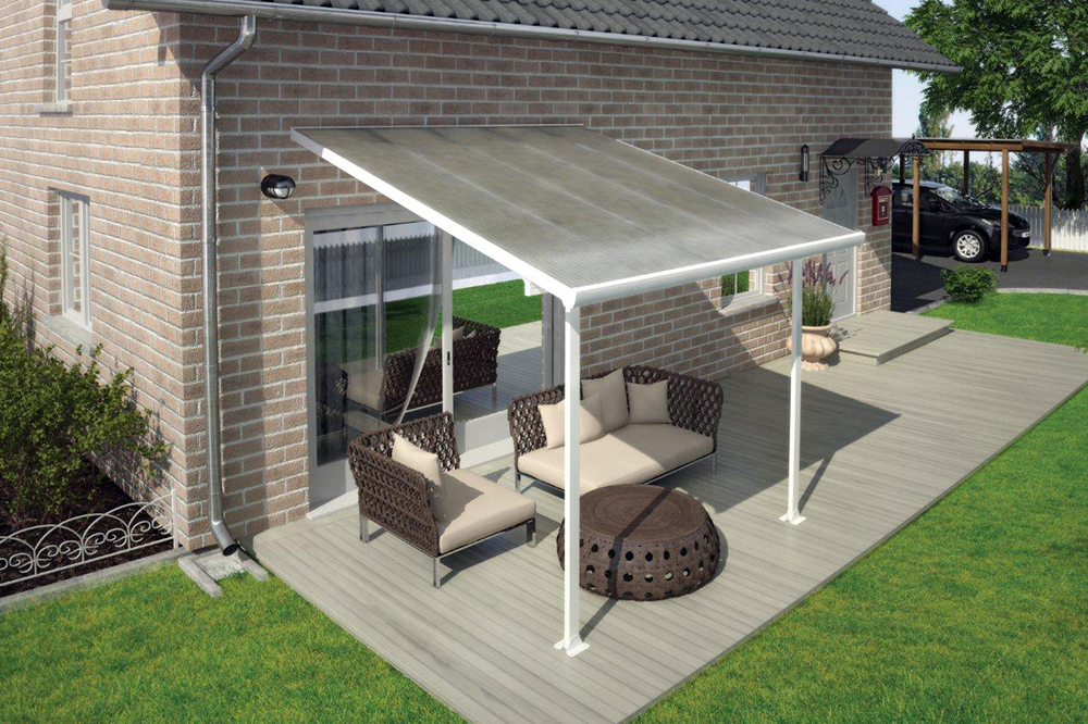 Porch Cover Multi Layered Polycarbonate Patio Porch Awning 10 X 10
