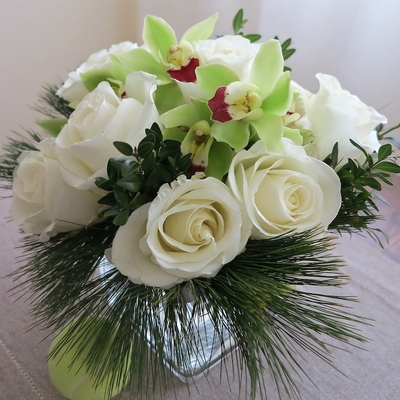 Christmas Orchids & Roses