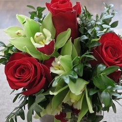Red Roses & Green Orchids