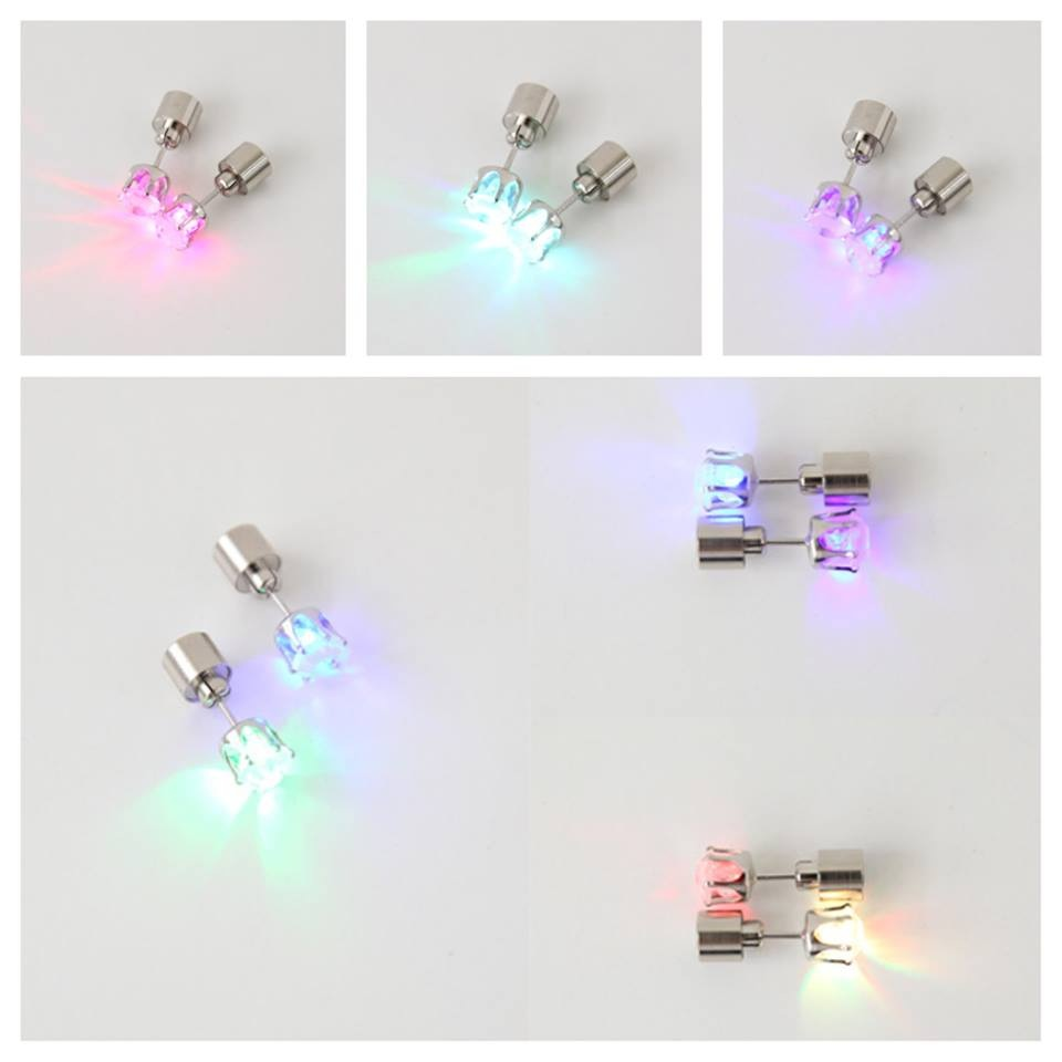 Multi Color Flashing Led Earrings